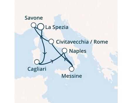 Croisière en Méditerranée à bord du Costa Smeralda