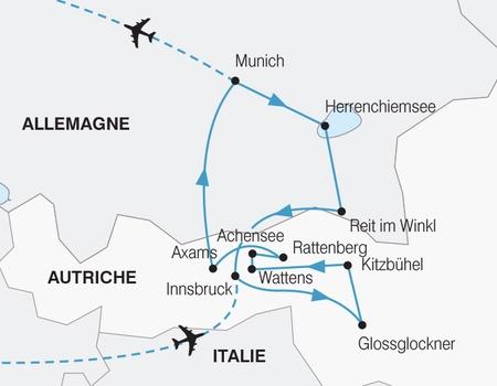 Trésors de la Bavière et du Tyrol