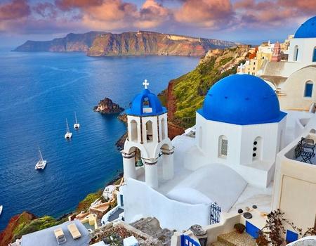 Combinés dans les Cyclades depuis Athènes - Santorin et Mykonos en hôtel 4*