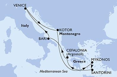 Croisière MSC Opéra en Méditerranée