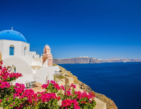Combiné Cyclades 2 îles : Santorin, Naxos en 3* ou 4*