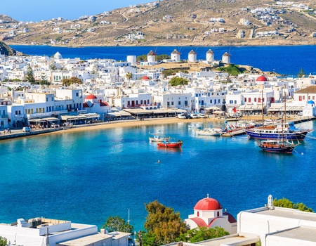 Combiné Cyclades 4 îles : Santorin, Naxos, Syros & Mykonos en 3* ou 4*