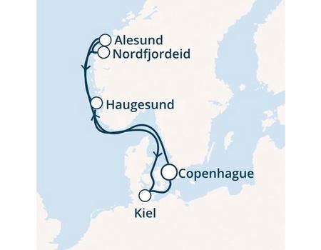 Croisière en Europe du nord à bord du Costa Diadema