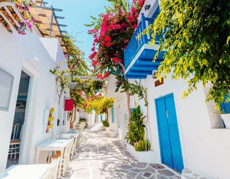 Combiné Cyclades 3 îles : Santorin, Naxos, Paros en 3* ou4*