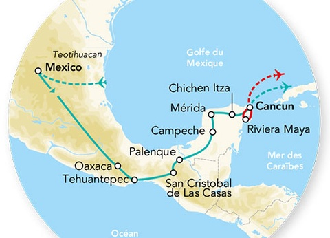 Splendeurs du Mexique & Extension Riviera Maya Hôtel 5* 15J/12N - 2021 - 1