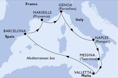 Croisière MSC Belissima - Scylla ,Charybde et l'Île des Chevaliers - 1