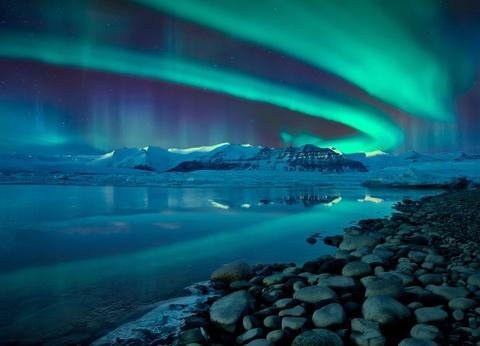 Icebergs et aurores boréales - 1