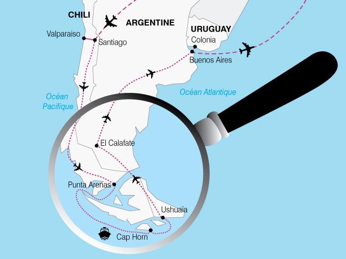 Argentine - Chili - Uruguay - Circuit Le Chili, l'Argentine et l'Uruguay