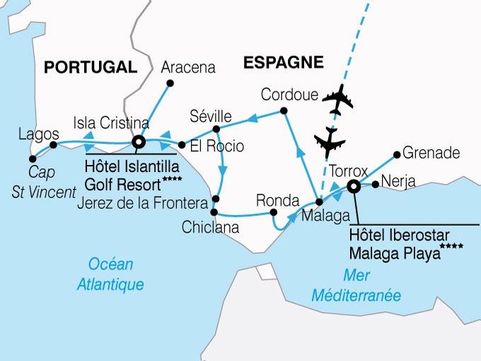 circuit l 39 andalousie d 39 alcazars en alhambra andalousie espagne avec voyages leclerc sala n. Black Bedroom Furniture Sets. Home Design Ideas