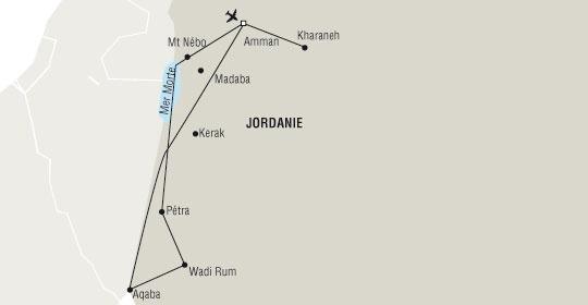 Jordanie - Circuit Trésors de Jordanie sur vol Royal Jordanian