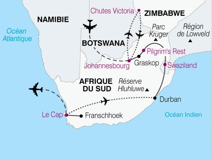 Afrique du Sud - Swaziland - Zimbabwe - Circuit Panoramas Sud Africains : Du Cap aux Chutes Victoria