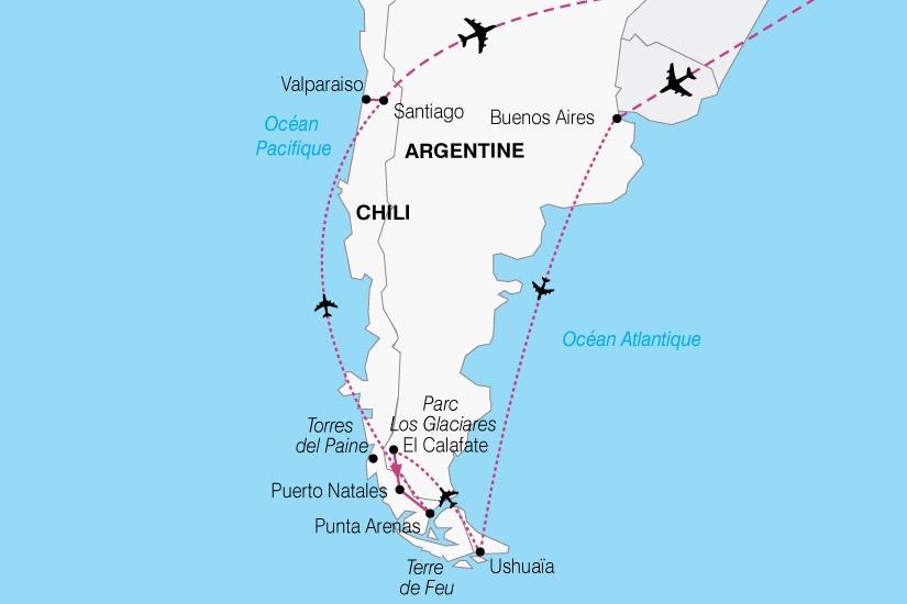 Argentine - Chili - Circuit Argentine-Chili Couleurs Latines