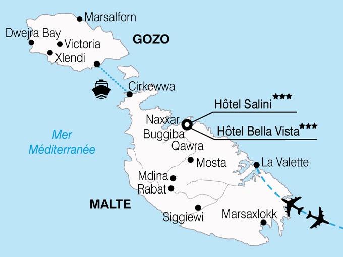 circuit malte l 39 ile des chevaliers en hotels 4 malte avec voyages leclerc national tours. Black Bedroom Furniture Sets. Home Design Ideas