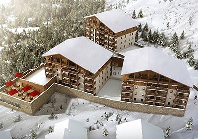 France - Alpes - Pra Loup - Résidence Le Village de Praroustan