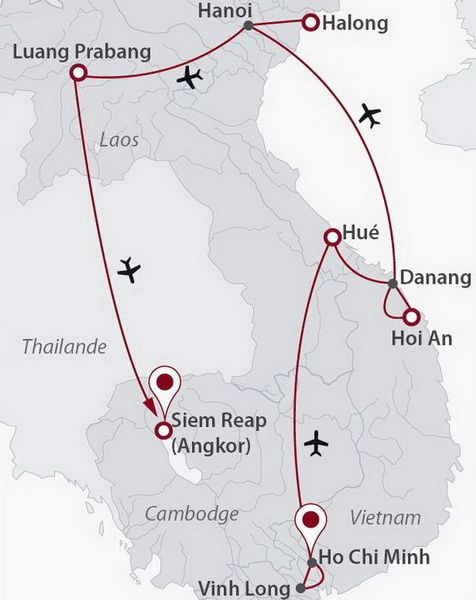 Cambodge - Laos - Vietnam - Circuit Carnets d'Indochine