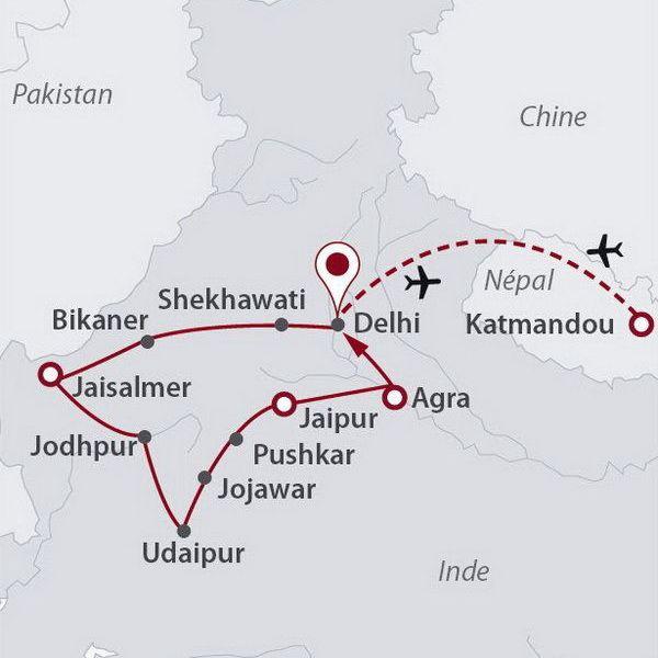 Inde - Inde du Nord et Rajasthan - Népal - Circuit Rajasthan Essentiel et Vallée de Katmandou