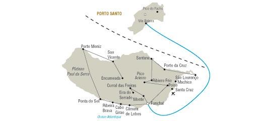 Madère - Ile de Madère - Ile de Porto Santo - Circuit Combiné Madère et Porto Santo