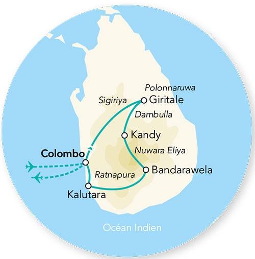 Sri Lanka - Circuit Splendeurs du Sri Lanka avec extension à Kalutara