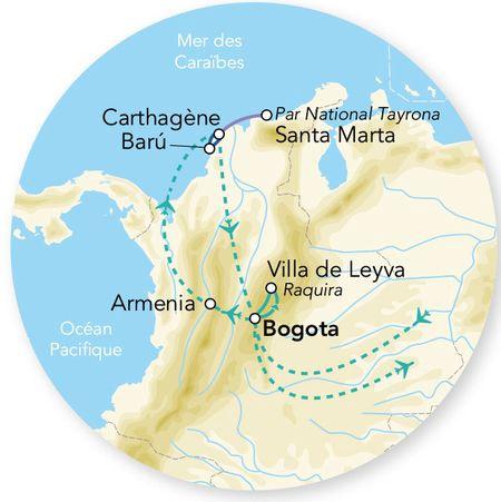 Colombie - Circuit Splendeurs de Colombie avec extension Santa Marta et Parc National Tayrona